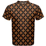 CIRCLES3 BLACK MARBLE & RUSTED METAL Men s Cotton Tee