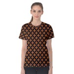 CIRCLES3 BLACK MARBLE & RUSTED METAL Women s Cotton Tee
