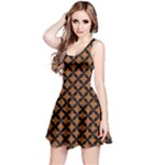 CIRCLES3 BLACK MARBLE & RUSTED METAL Reversible Sleeveless Dress