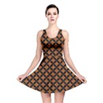 CIRCLES3 BLACK MARBLE & RUSTED METAL Reversible Skater Dress