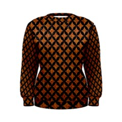 Circles3 Black Marble & Rusted Metal Women s Sweatshirt