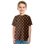 CIRCLES3 BLACK MARBLE & RUSTED METAL Kids  Sport Mesh Tee