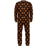 CIRCLES3 BLACK MARBLE & RUSTED METAL OnePiece Jumpsuit (Men)