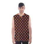 CIRCLES3 BLACK MARBLE & RUSTED METAL Men s Basketball Tank Top