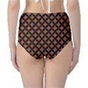 CIRCLES3 BLACK MARBLE & RUSTED METAL High-Waist Bikini Bottoms View2
