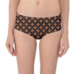 CIRCLES3 BLACK MARBLE & RUSTED METAL Mid-Waist Bikini Bottoms