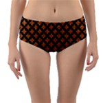 CIRCLES3 BLACK MARBLE & RUSTED METAL Reversible Mid-Waist Bikini Bottoms