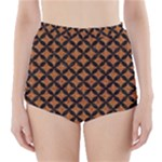 CIRCLES3 BLACK MARBLE & RUSTED METAL High-Waisted Bikini Bottoms