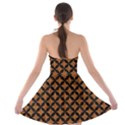 CIRCLES3 BLACK MARBLE & RUSTED METAL Strapless Bra Top Dress View2