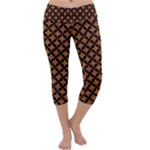 CIRCLES3 BLACK MARBLE & RUSTED METAL Capri Yoga Leggings