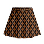 CIRCLES3 BLACK MARBLE & RUSTED METAL Mini Flare Skirt