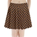 CIRCLES3 BLACK MARBLE & RUSTED METAL Pleated Mini Skirt
