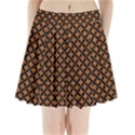 CIRCLES3 BLACK MARBLE & RUSTED METAL Pleated Mini Skirt View1