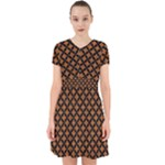 CIRCLES3 BLACK MARBLE & RUSTED METAL Adorable in Chiffon Dress