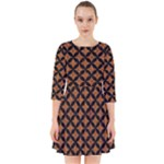 CIRCLES3 BLACK MARBLE & RUSTED METAL Smock Dress