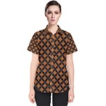 CIRCLES3 BLACK MARBLE & RUSTED METAL Women s Short Sleeve Shirt