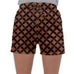 CIRCLES3 BLACK MARBLE & RUSTED METAL Sleepwear Shorts