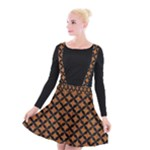 CIRCLES3 BLACK MARBLE & RUSTED METAL Suspender Skater Skirt