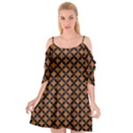 CIRCLES3 BLACK MARBLE & RUSTED METAL Cutout Spaghetti Strap Chiffon Dress