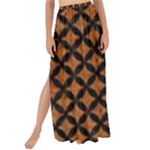 CIRCLES3 BLACK MARBLE & RUSTED METAL Maxi Chiffon Tie-Up Sarong