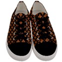 CIRCLES3 BLACK MARBLE & RUSTED METAL Men s Low Top Canvas Sneakers View1