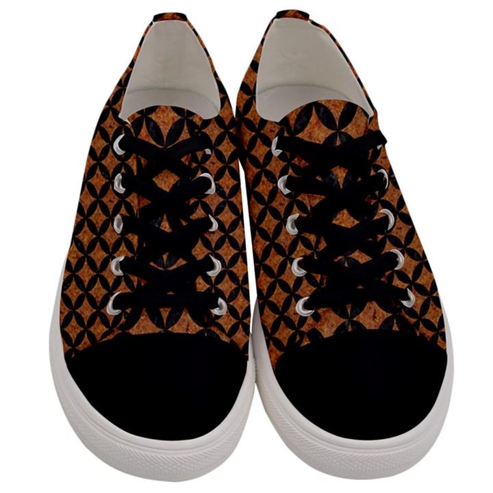 CIRCLES3 BLACK MARBLE & RUSTED METAL Men s Low Top Canvas Sneakers