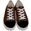 CIRCLES3 BLACK MARBLE & RUSTED METAL Women s Low Top Canvas Sneakers View1