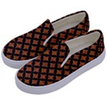 CIRCLES3 BLACK MARBLE & RUSTED METAL Kids  Canvas Slip Ons