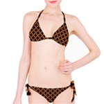 CIRCLES3 BLACK MARBLE & RUSTED METAL (R) Bikini Set
