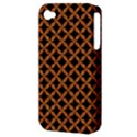 CIRCLES3 BLACK MARBLE & RUSTED METAL (R) Apple iPhone 4/4S Hardshell Case (PC+Silicone) View3
