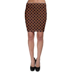 CIRCLES3 BLACK MARBLE & RUSTED METAL (R) Bodycon Skirt