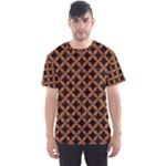 CIRCLES3 BLACK MARBLE & RUSTED METAL (R) Men s Sports Mesh Tee