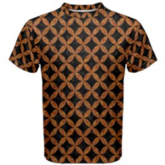 CIRCLES3 BLACK MARBLE & RUSTED METAL (R) Men s Cotton Tee
