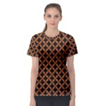CIRCLES3 BLACK MARBLE & RUSTED METAL (R) Women s Sport Mesh Tee