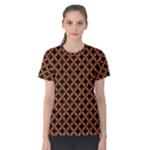 CIRCLES3 BLACK MARBLE & RUSTED METAL (R) Women s Cotton Tee
