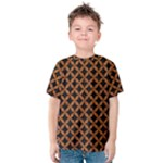 CIRCLES3 BLACK MARBLE & RUSTED METAL (R) Kids  Cotton Tee