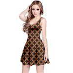 CIRCLES3 BLACK MARBLE & RUSTED METAL (R) Reversible Sleeveless Dress