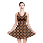CIRCLES3 BLACK MARBLE & RUSTED METAL (R) Reversible Skater Dress
