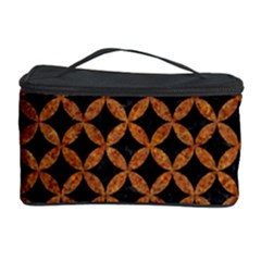 CIRCLES3 BLACK MARBLE & RUSTED METAL (R) Cosmetic Storage Case