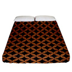 CIRCLES3 BLACK MARBLE & RUSTED METAL (R) Fitted Sheet (California King Size)