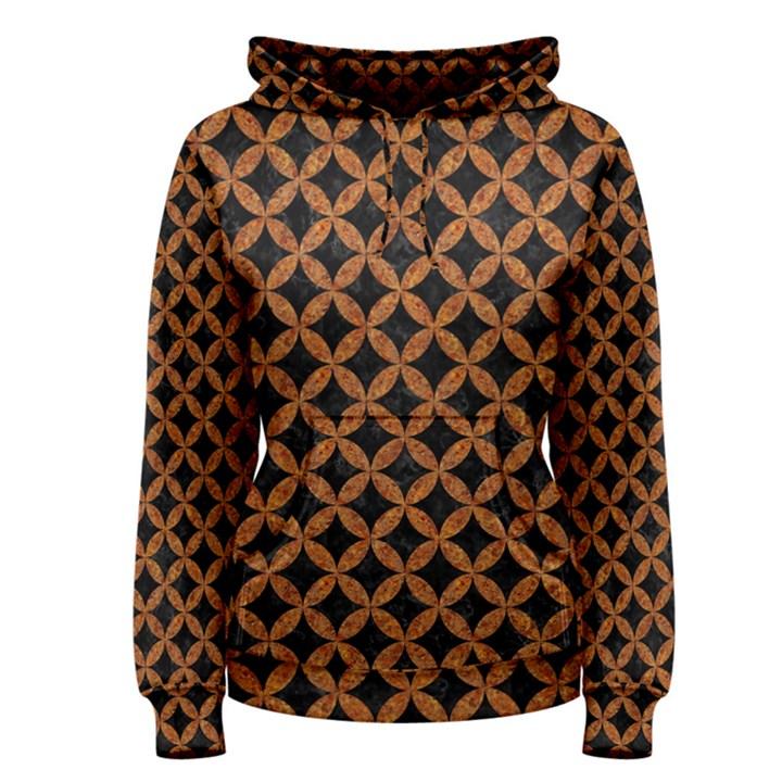 CIRCLES3 BLACK MARBLE & RUSTED METAL (R) Women s Pullover Hoodie
