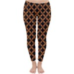 CIRCLES3 BLACK MARBLE & RUSTED METAL (R) Classic Winter Leggings