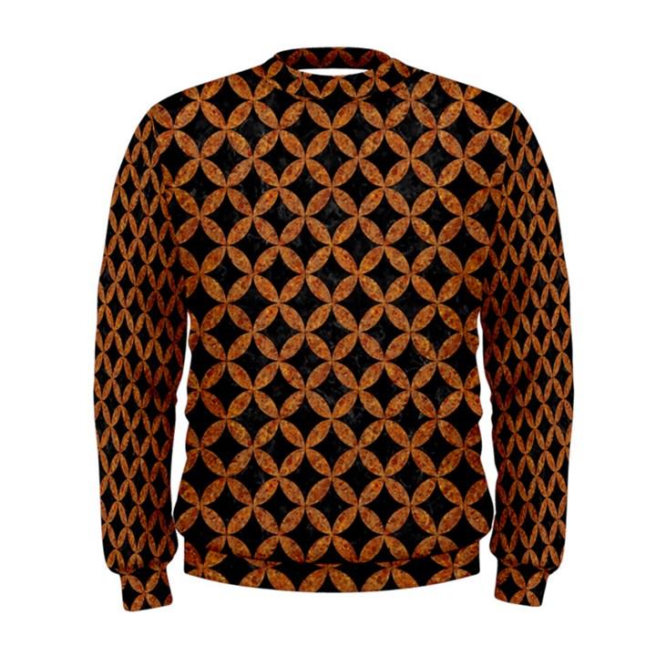 CIRCLES3 BLACK MARBLE & RUSTED METAL (R) Men s Sweatshirt