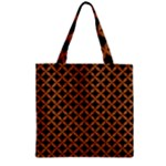 CIRCLES3 BLACK MARBLE & RUSTED METAL (R) Zipper Grocery Tote Bag