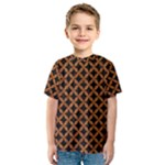 CIRCLES3 BLACK MARBLE & RUSTED METAL (R) Kids  Sport Mesh Tee