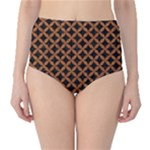 CIRCLES3 BLACK MARBLE & RUSTED METAL (R) High-Waist Bikini Bottoms