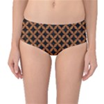CIRCLES3 BLACK MARBLE & RUSTED METAL (R) Mid-Waist Bikini Bottoms