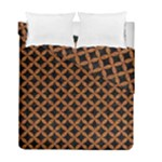 CIRCLES3 BLACK MARBLE & RUSTED METAL (R) Duvet Cover Double Side (Full/ Double Size)
