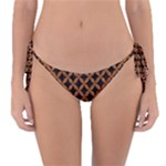 CIRCLES3 BLACK MARBLE & RUSTED METAL (R) Reversible Bikini Bottom