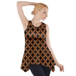 CIRCLES3 BLACK MARBLE & RUSTED METAL (R) Side Drop Tank Tunic